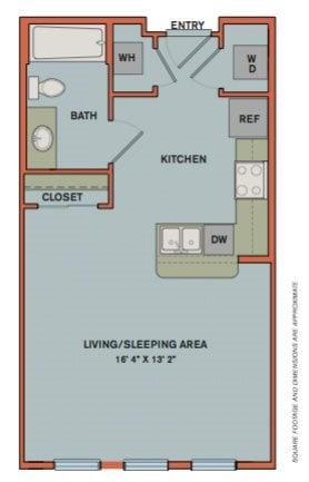 S1 Floorplan at The Can Plant Residences at Pearl