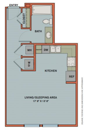 S2 Floorplan at The Can Plant Residences at Pearl