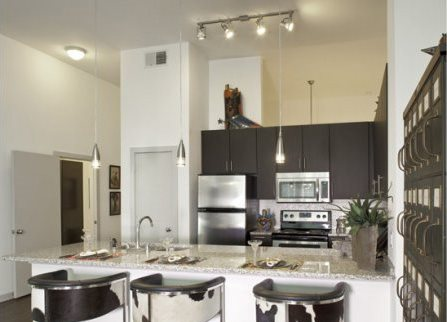 Fully equipped kitchen at The Can Plant Residences at Pearl, San Antonio, TX,78215