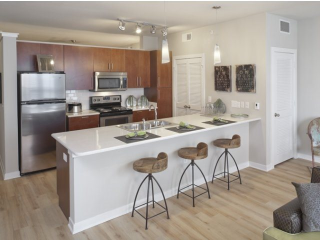 Stainless Silver Appliances at The Can Plant Residences at Pearl, San Antonio, TX,78215