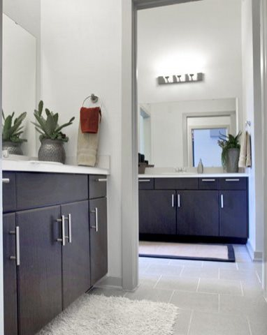 Solid Cultured Marble Bathroom Counter Tops at The Can Plant Residences at Pearl, San Antonio, TX,78215