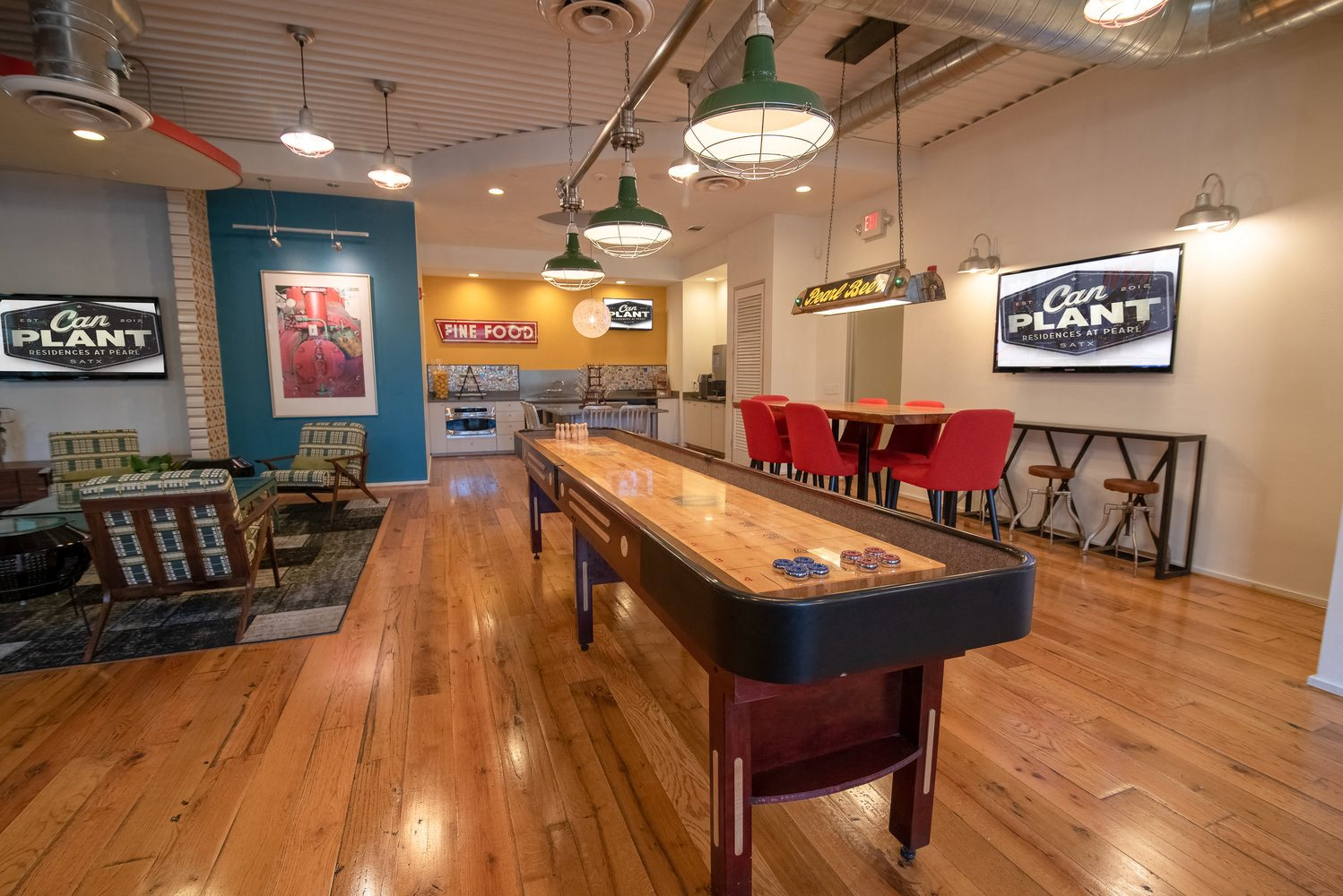 Resident Lounge with Shuffleboard