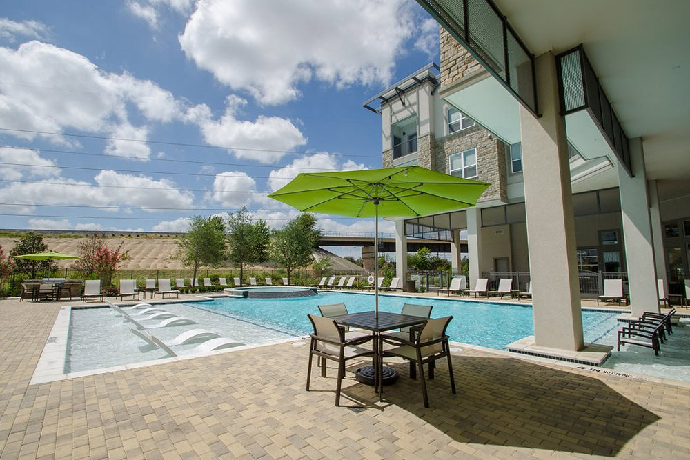 Pool with sundeck at GreenVue