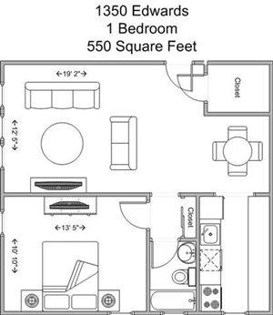 1 Bedroom Model A