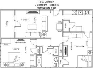 2 Bedroom - Model A