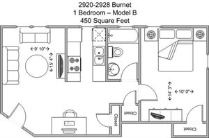 1 Bedroom - Model B (upper level)