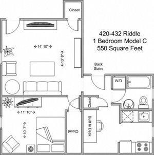 1 Bedroom - Model C
