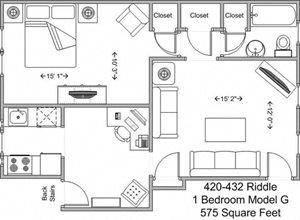 1 Bedroom - Model G