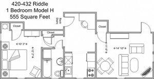1 Bedroom - Model H