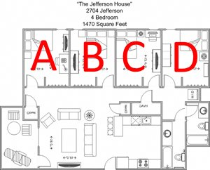 By the Bed - 4 Bedroom