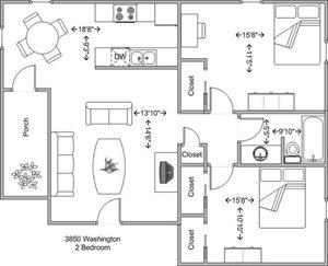 2 bedroom (lower level)