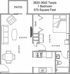 1 Bedroom Upper Level
