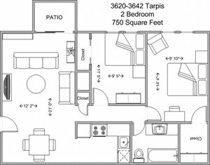 2 Bedroom Upper Level