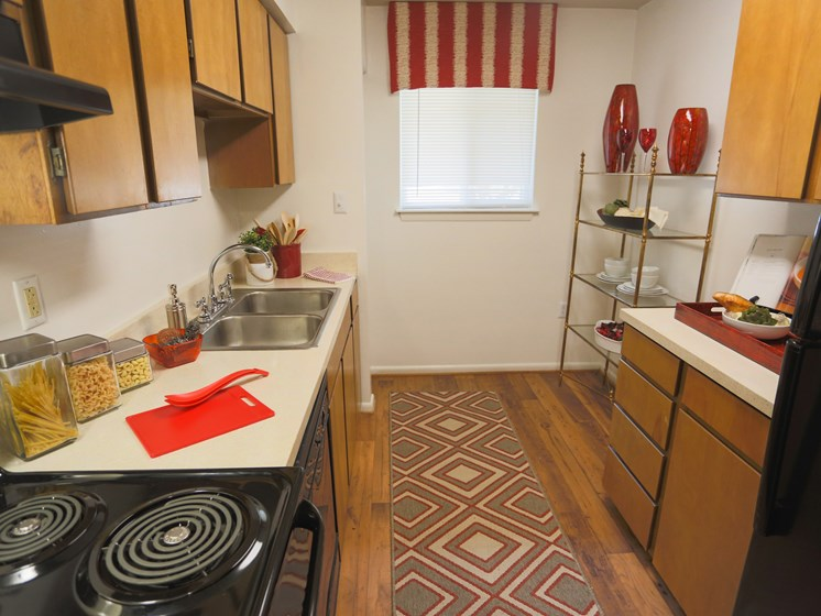 Equipped Kitchen at Sterling Beaufont Apartments
