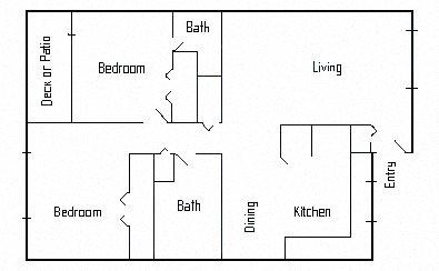 2br 2ba remodeled Floor Plan 6