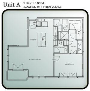 1 Bedroom Condo Units A & B