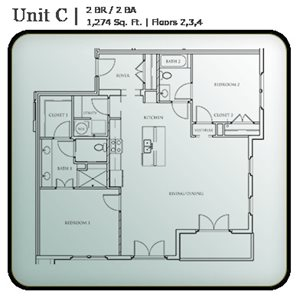 2 Bedroom Condo Units C & D