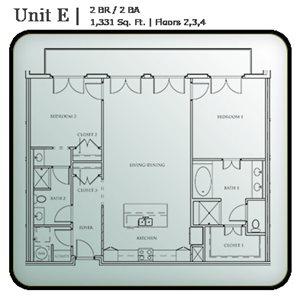2 Bedroom Condo Units E & F
