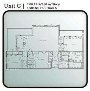 2 Bedroom Condo Units G & H