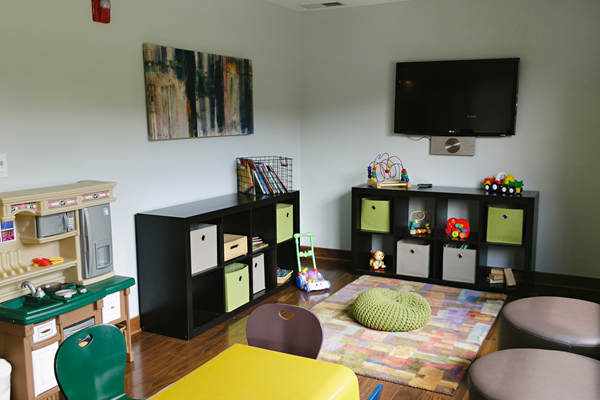 Kids room at the community clubhouse - Valley Creek Apartments, Woodbury, MN 55125