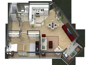 Adagio Floorplan at Valley Creek Apartments