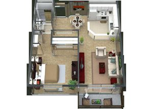 Alsace Floorplan at Valley Creek Apartments, Woodbury, MN 55125