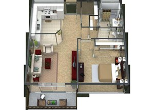 Aria Floorplan at Valley Creek Apartments