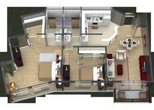 Bristol Floorplan at Valley Creek Apartments