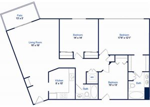 Cabernet Floorplan at Valley Creek Apartments, Woodbury, MN 55125