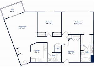 Cabernet Floorplan at Valley Creek Apartments