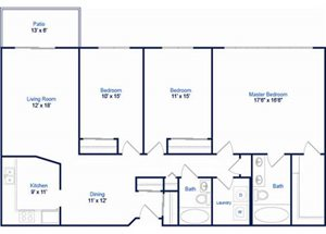 Cyprus Floorplan at Valley Creek Apartments, Woodbury, MN 55125