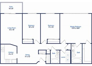 Cyprus Floorplan at Valley Creek Apartments