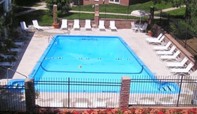 Outdoor Pool at The Colonial Apartment Homes in Omaha