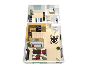 refurbished apartment