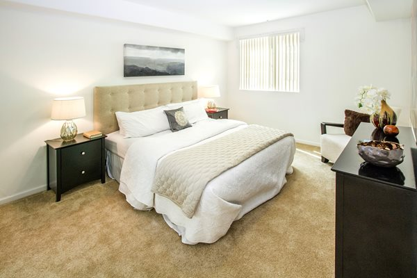 Carpet In Bedrooms at Le Blanc Apartment Homes, California