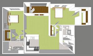 Two Bedroom II Park Place Floor Plan