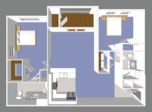 Two Bedroom Park Place Floor Plan