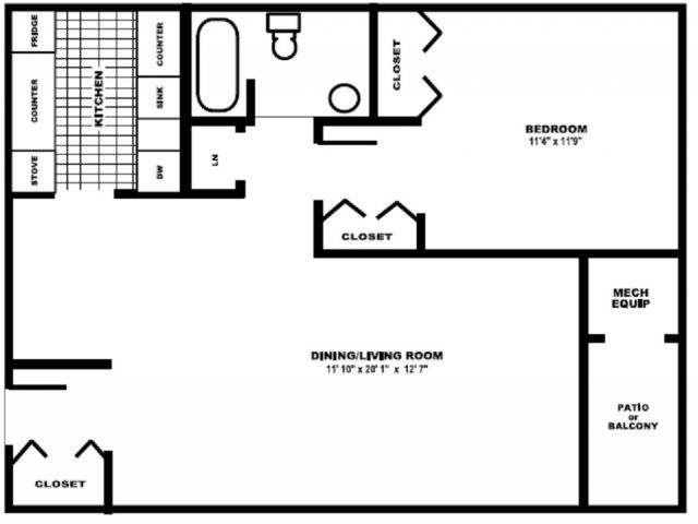 The Elm Floor Plan 1