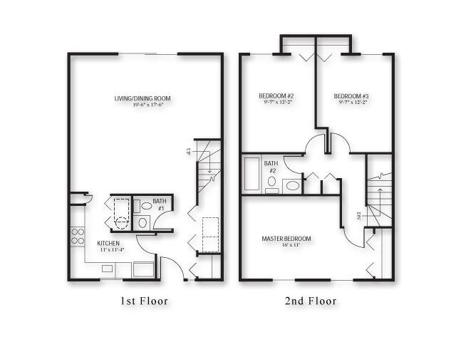 Three Bed - Townhouse Floor Plan 4
