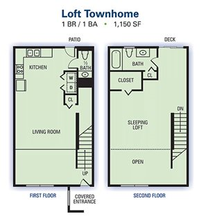 1 Bedroom 1 Bathroom Townhome