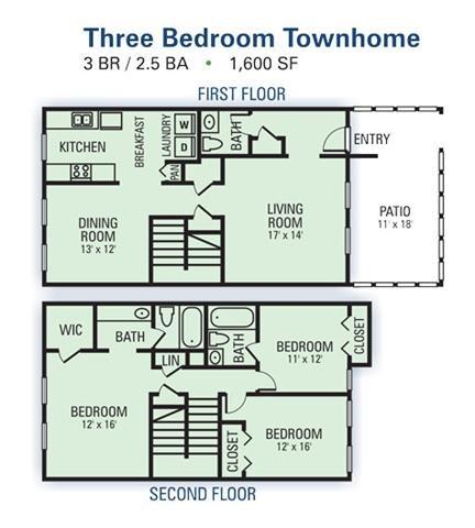 3 Bedroom Townhome A Floor Plan 4