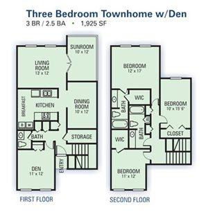 3 Bedroom Townhome B