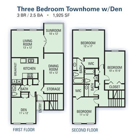 3 Bedroom Townhome B Floor Plan 5