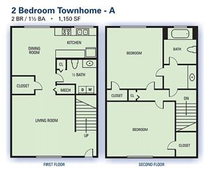 2 Bedroom Townhome A