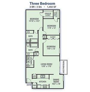3 Bedroom Garden