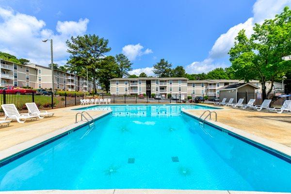 Sparkling Swimming Pool at Willow Lake Apartment Homes   Stone Mountain, GA 30083