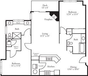 CBH Lofts - 2 Bed, 2 Bath Bayhill