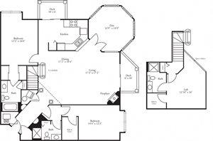 CBH Pinnacle - 2 Bed, 3 Bath + Den Edinburough w/ Loft