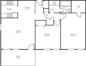 CBH Terraces - 2 Bed, 1 Bath