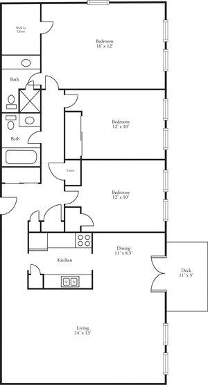 CBH Terraces - 3 Bed, 2 Bath